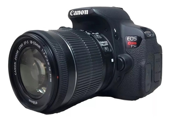 Câmera Canon T5i Semi-nova + Lente Efs 18-55 Mm + Carregador