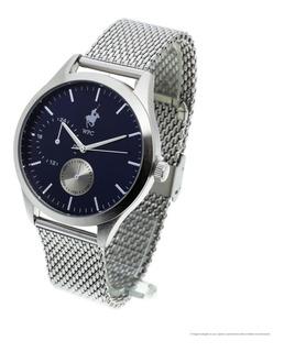 Reloj De Hombre Welington Polo Club Itamar Malla Metal Analógico