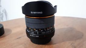 Lente Fish Eye Samyang 8mm Para Sony Alpha