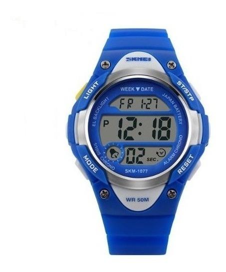Reloj Skmei Digital Niños Y Niñas Contra El Agua 1077