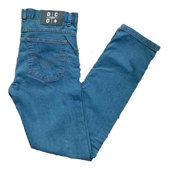 Pantalon De Jean Chupin Elastizado Hombre - 50 Y 52