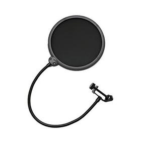 Pop Filter Tela Anti Sopro Para Microfone Com Haste Flexível