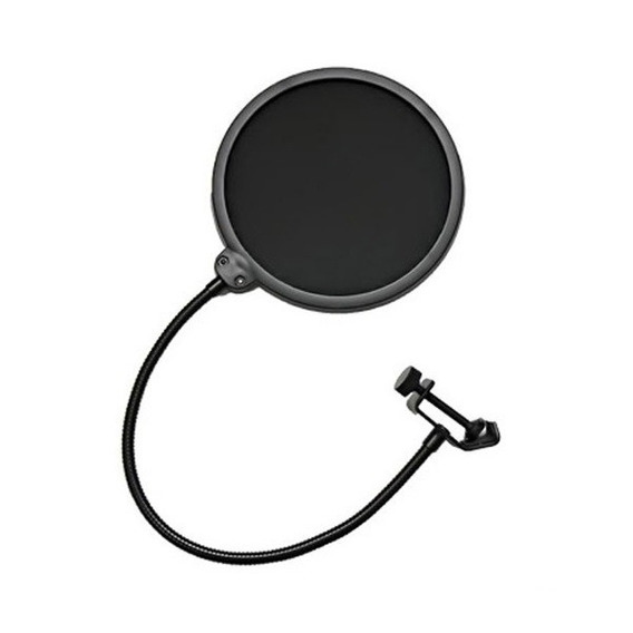 Pop Filter Tela Anti Sopro Para Microfone Com Haste Flexível