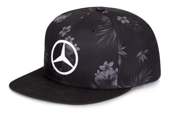 Gorra Lewis Hamilton Negra Flores Plana F1 Mercedes Japón