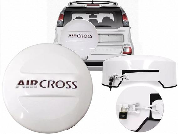 Capa De Estepe Rigida Aircross Branco Banquise Orig Cadeado