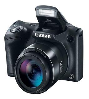 Canon - Powershot Sx420is 20.0-megapixel Digital Camera - Bl