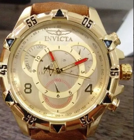 Relógio Masculino Grande Pesado Dourado Prata Top