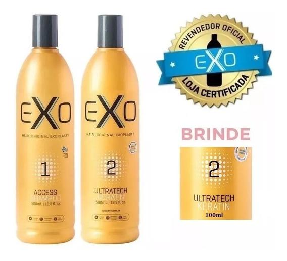 Exo Hair Alisamento Exoplastia Capilar 2x500ml + Brinde!