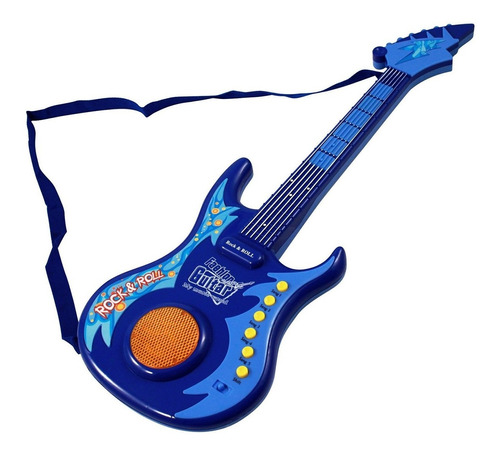 Guitarra Eléctrica Con Luz, Sonido Y Micrófono De Pie Oferta