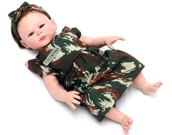 Vestido Militar Personalizado Bebê Menina