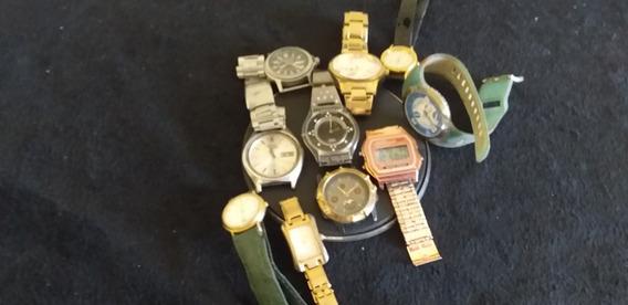 Lote De 9 Relógios De Pulso Varias Marcas