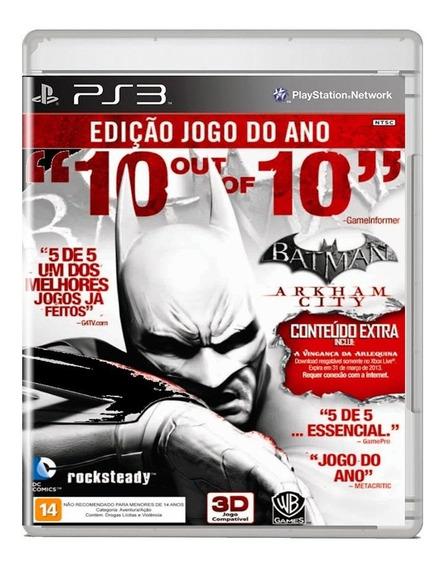 Batman Arkham City Ps3 Midia Fisica Pronta Entrega