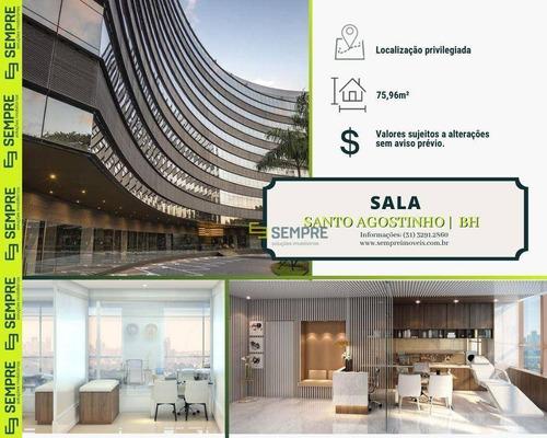 Imagem 1 de 22 de Sala À Venda, 75 M² - Santo Agostinho - Belo Horizonte/mg - Sa0134