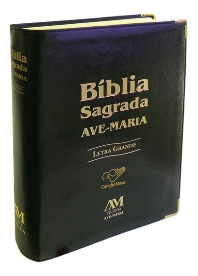 Livro Bíblia Sagrada Ave Maria (letra Grande) - Preta