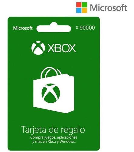 Tarjeta Regalo Xbox $90.000 Región Colombia