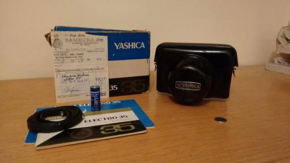 Camera Yashica Gold Electro 35 Completa Com Mauais E Nf