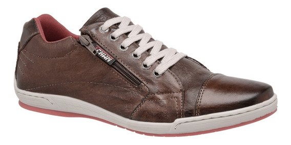 Sapatênis Couro Legitimo Estilo Ferracini - Tchwm Shoes