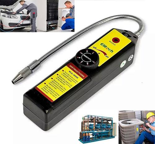 Imagen 1 de 8 de Detector Fugas Gas Refrigerante Elitech R134a R22 R12 Etc