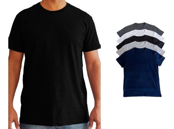 Camiseta Camisa Masculina Algodão Premium 30.1 Confort Lisa