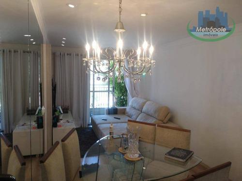 Apartamento Com 2 Dormitórios À Venda, 56 M² Por R$ 350.000 - Vila Galvão - Guarulhos/sp - Ap0825