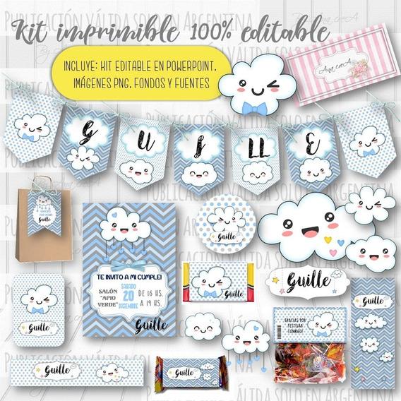 Kit Imprimible Lluvia De Amor 100% Editable Mod.3 Deco Candy