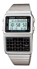 Relógio Casio Masculino Data Bank Calculadora Dbc-611-1df