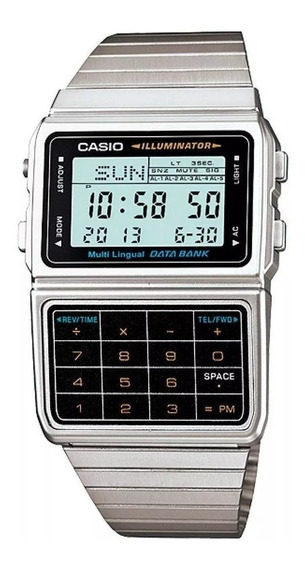 Relógio Casio Masculino Data Bank Calculadora Dbc-611-1df