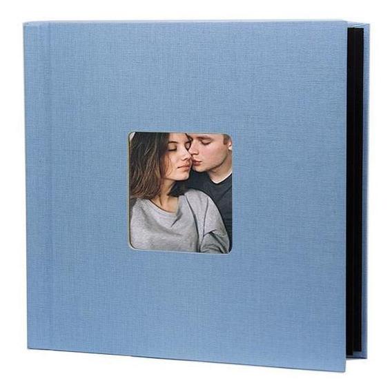 Photobook Kodak Album Auto Adesivo Janela 15x15 - Azul Bebê