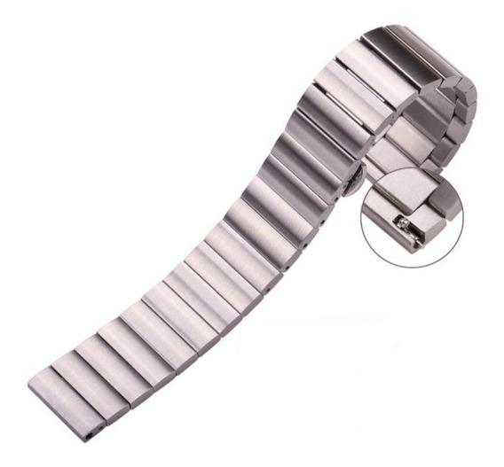 Correa Para Reloj Acero Inoxidable Premium Color Plata 18mm