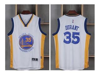 Camisa Nba Branca Golden State Warriors Durant Nr35 Estoque