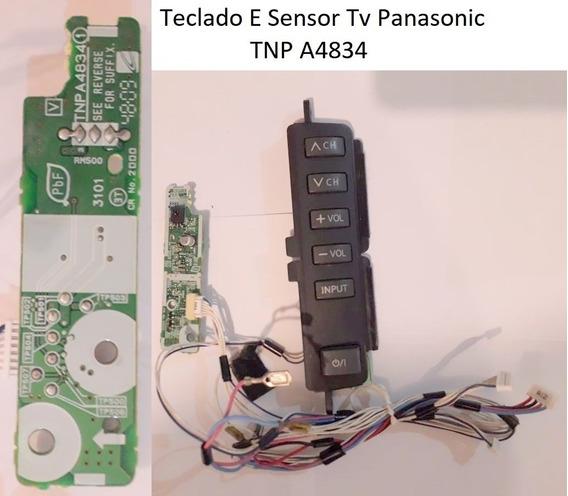 Teclado E Sensor Tv Panasonic Tnp A4834 + Cabos