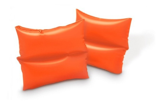 Flotadores Inflable Sencillo Brazo Para Niños Naranja Intex