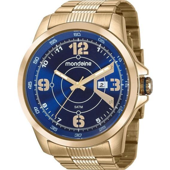Relógio Mondaine Masculino 99335gpmvds2 Dourado Original