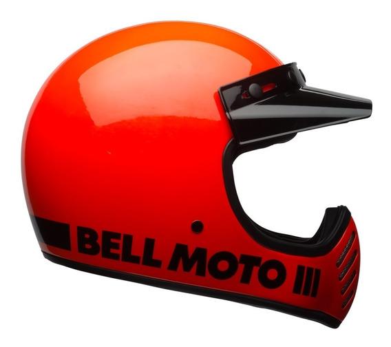 Capacete Bell Moto 3 Laranja Fluor