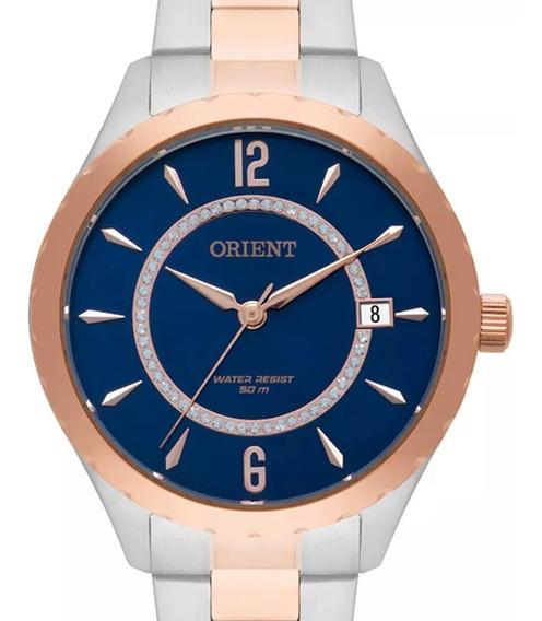 Relógio Orient Feminino Social Bicolor Prova Dagua Nf