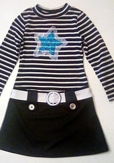 Vestido Niña Talla 4 A 5 Xs Marca Piper Americano