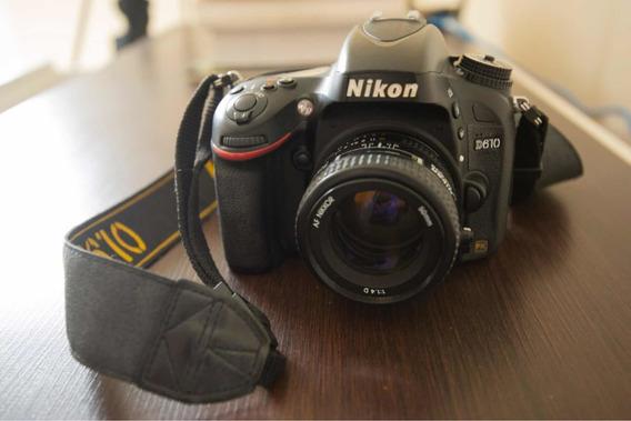 Nikon D610 + Lente 50mm 1.8