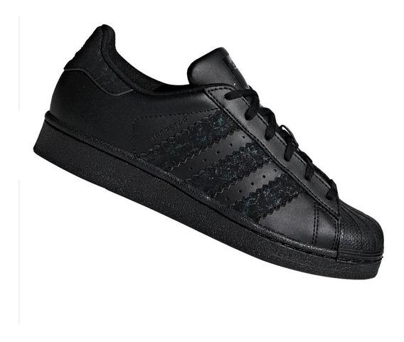 Tênis adidas Superstar J Originals Preto Cg6613 Original