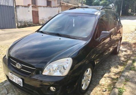 Carro Kia Carens Preto 2008/2009 Automático. Único Dono