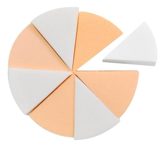 Esponjas De Maquillaje X8 Triangulares Cisne
