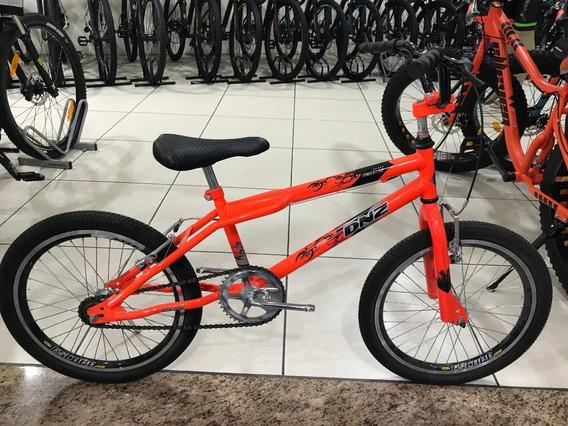 Criado Bicicleta Dnz Luxo Aro 20 Infanto Juvenil - Laranja + Rodinha Lateral Aro 16 Ao 24 Compatível Marchas