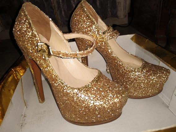 Zapato Brilloso, Original Luciano Marra, Talle 37.