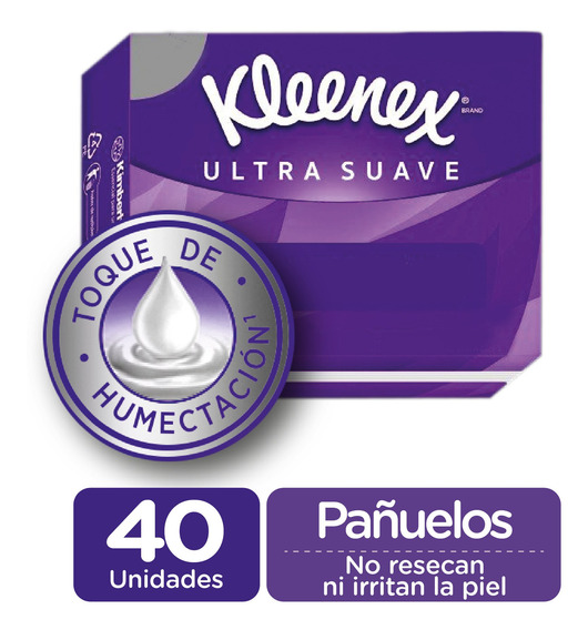 Pañuelo Facial Kleenex Ultra Suave 40 Unid