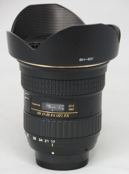 Lente Tokina Sd 17-35mm F4 (if )fx Novíssima