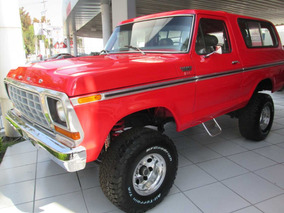 Ford Bronco Xlt 1978 Naranja