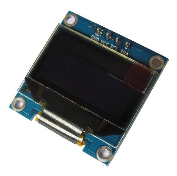 Display Oled Lcd 0.96 I2c Azul E Amarelo Arduino Pic Nodemcu