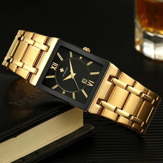 Relógio Luxo Wwoor Masculino- Presente- Executivo
