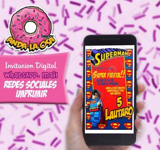 Lote De Tarjetas Cumpleanos Superman En Mercado Libre Argentina