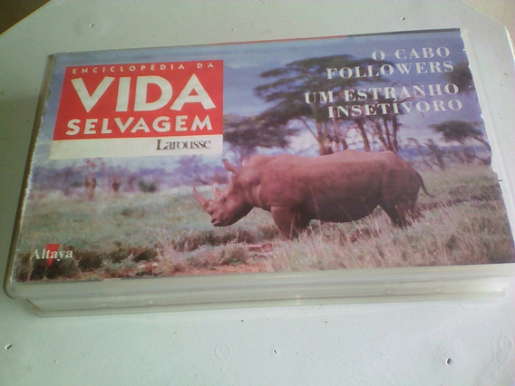 Fita Vhs Enciclopédia Da Vida Selvagens Vhs