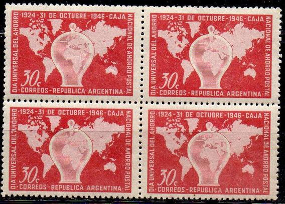 Argentina 1946 30c Día Universal Del Ahorro C/variedad Nuevo